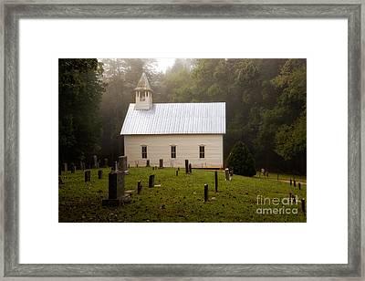 Cades Cove Methodist Church Framed Print