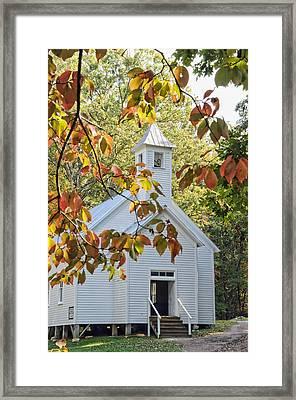 Cades Cove Missionary Baptist Church Framed Print