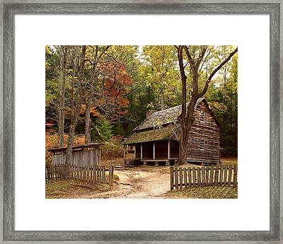 Cades Cove Mountain Home Framed Print