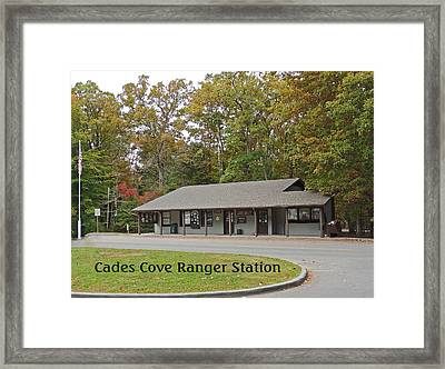 Cades Cove Ranger Station Framed Print by Marian Bell