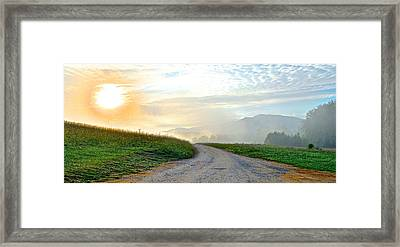 Cades Cove Sunrise Framed Print by Frozen in Time Fine Art Photography