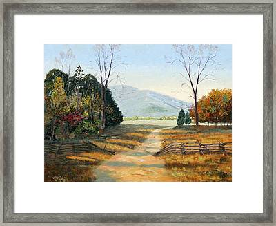 Cades Cove Framed Print by Tommy Thompson