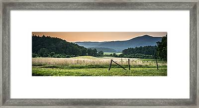 Cades Cove Vista Framed Print by Tony Hood