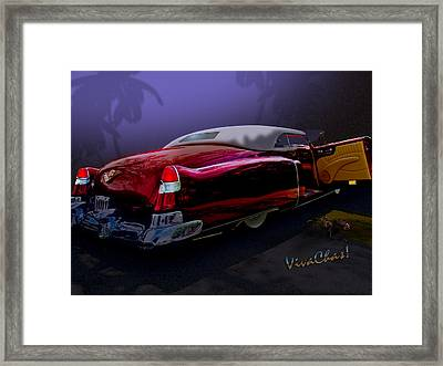 Cadillac Biarritz Convertible Daddy's Caddy Framed Print by Chas Sinklier