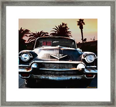 Cadillac Blues Framed Print by Larry Butterworth