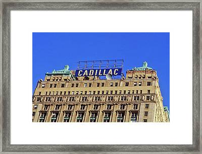 Cadillac Building In Downtown Detroit Framed Print