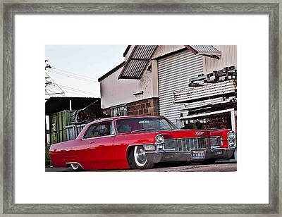Cadillac Coupe De Ville 1965 Framed Print by Gianfranco Weiss