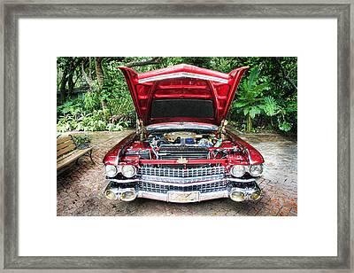 Cadillac Engine Framed Print by Rudy Umans