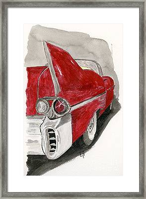 Framed Print featuring the painting Cadillac by Eva Ason