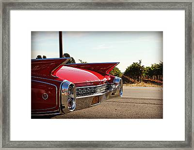 Cadillac In Wine Country  Framed Print