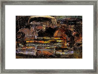 Framed Print featuring the digital art Cadillac by Jim Vance