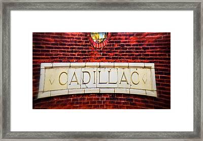 Cadillac Framed Print by LeeAnn McLaneGoetz McLaneGoetzStudioLLCcom