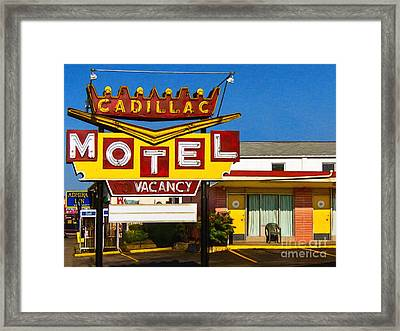 Cadillac Motel 20130307 Framed Print by Wingsdomain Art and Photography