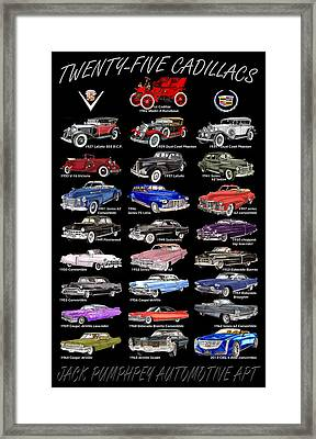 Never Enough Cadillacs  Framed Print