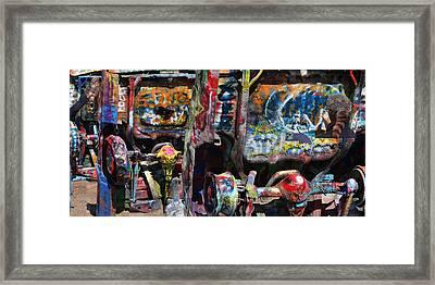 Cadillac Ranch Abstract Framed Print