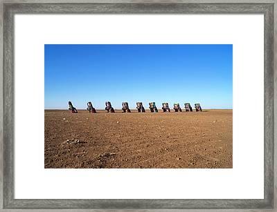 Cadillac Ranch. Framed Print