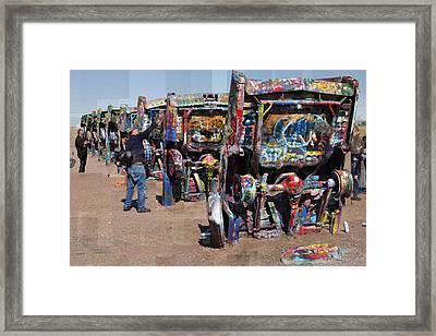 Cadillac Ranch Oblique Framed Print