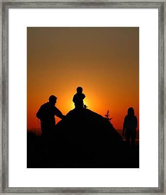 Cadillac Sunset Framed Print by Acadia Photography