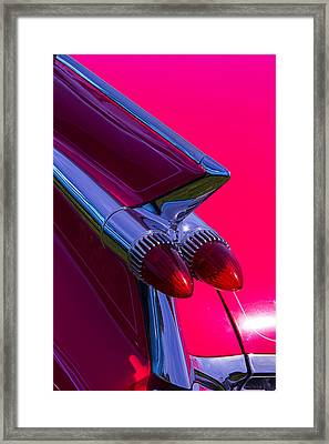 Cadillac Tail Lights Framed Print by Garry Gay