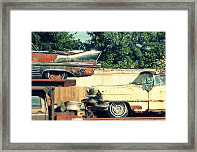 Cadillacs In Decay Framed Print