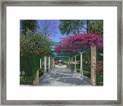 Cadiz Garden Framed Print by Richard Harpum