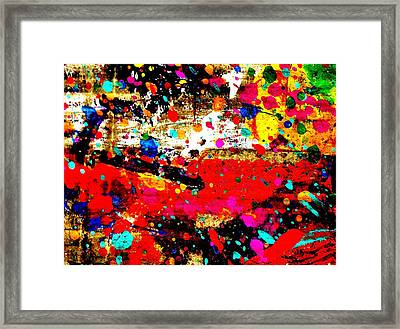Cadmium Abstract Framed Print by John  Nolan