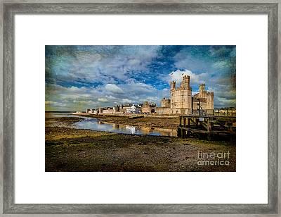 Caernarfon Castle Framed Print by Adrian Evans