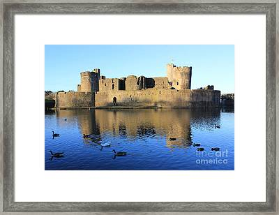 Framed Print featuring the photograph Caerphilly Castle by Vicki Spindler