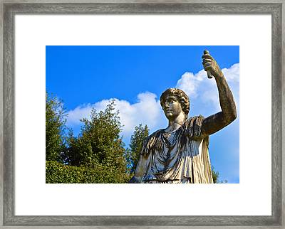 Caesar On Blue Sky Framed Print