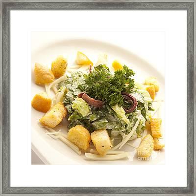 Caesar Salad Framed Print by New  Orleans Food