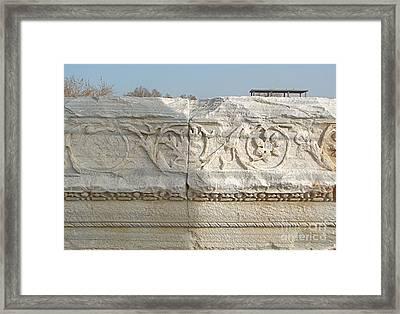 Caesarea Israel Ancient Roman Marble Detail Framed Print by Robert Birkenes