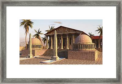 Caesareum Temple Ancient Alexandria Framed Print