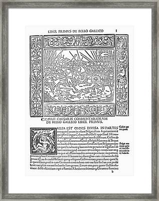 Caesar's Commentaries Framed Print