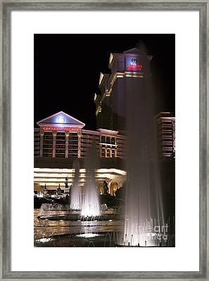 Caesar's Fountains Framed Print by John Rizzuto