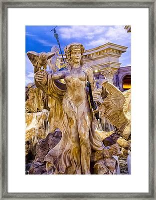 Caesars Palace Fountains - Las Vegas Nevada Framed Print