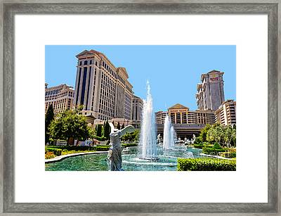 Caesars Palace Framed Print by Paul Mashburn