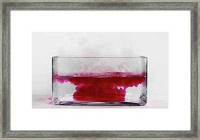 Caesium Reacting With Water (5 Of 5) Framed Print by Science Photo Library