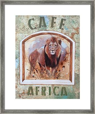Caf? Africa Framed Print by P.s. Art Studios