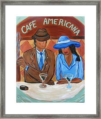Cafe Americana Framed Print by Victoria  Johns