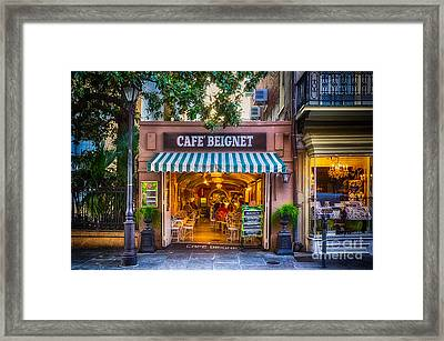Cafe Beignet Morning Nola Framed Print