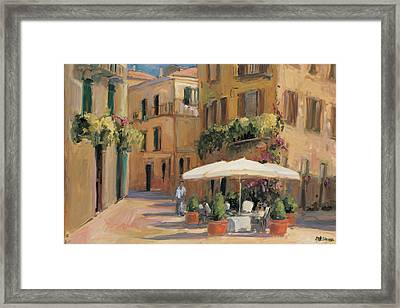 Cafe Bordeaux Framed Print