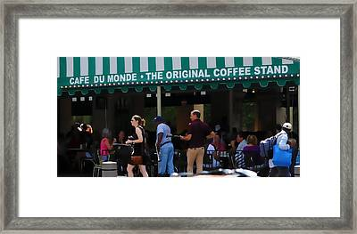 Cafe Cafe  Framed Print by Kenneth Feliciano