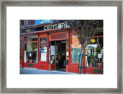 Cafe Central In Madrid Framed Print by RicardMN Photography