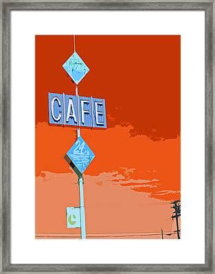 Cafe Framed Print by Charlette Miller