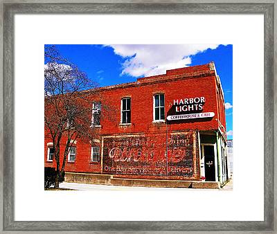 Cafe Framed Print by Chris Berry
