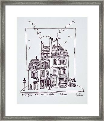 Cafe De La Mairie In Old Town Framed Print