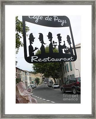 Euro Cafe Framed Print by France  Art