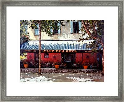 Cafe Des Arts   Framed Print by Michael Swanson