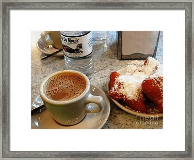 Framed Print featuring the painting Cafe Du Monde Afternoon by Ecinja Art Works