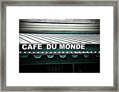 Cafe Du Monde Framed Print